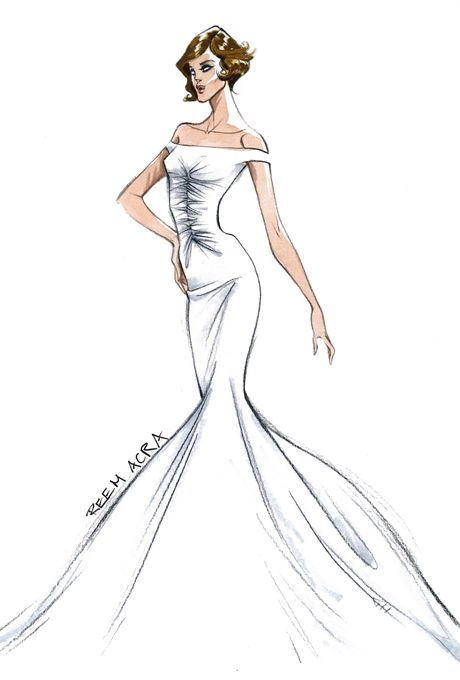designer sketches of angelina jolie's wedding dress | fashion