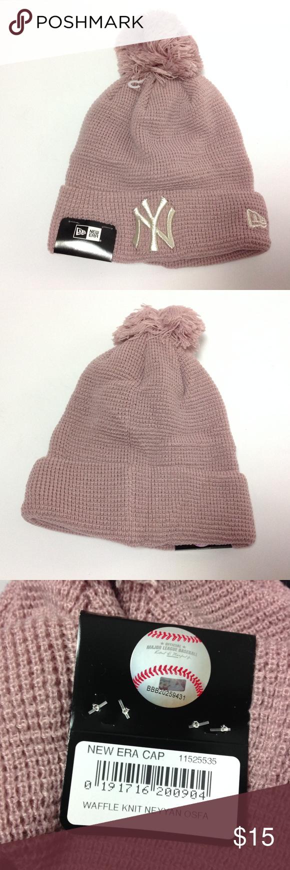 8cc927f2dac Newyork Yankees Womens Winter Beanie Hat E13 New Era Women s Winter Cap  Waffle Knit Newyork Yankees Pink One Size New EP New Era Accessories Hats