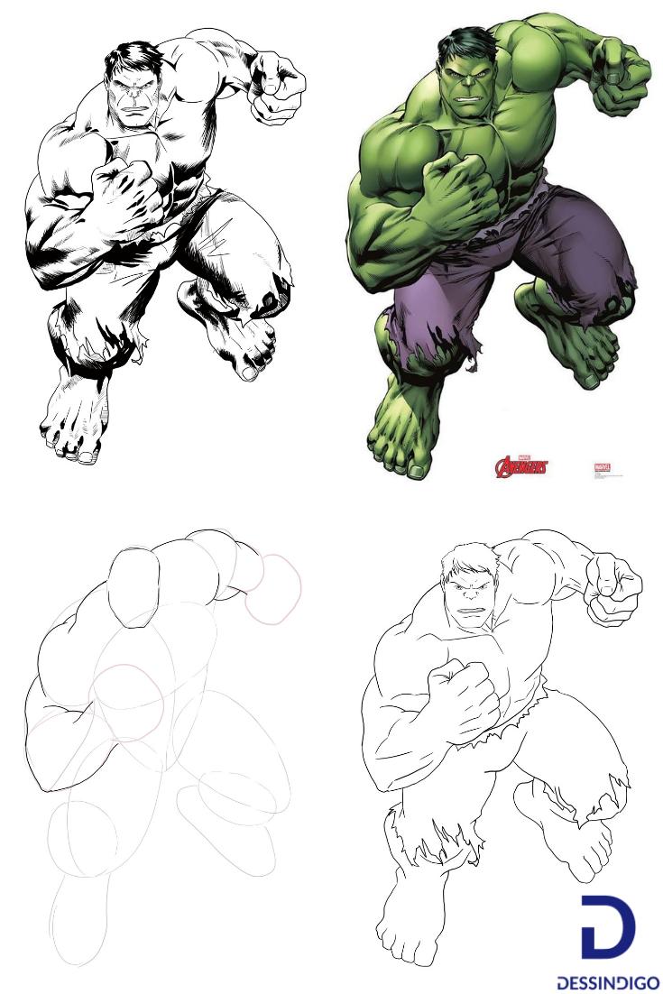 Réaliser Un Dessin De Hulk Pencil Drawing In 2019 Creepy