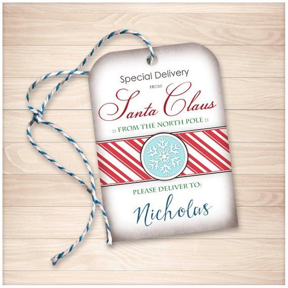 Printable \u0027Special Delivery from Santa Claus\u0027 DIY Gift Tags