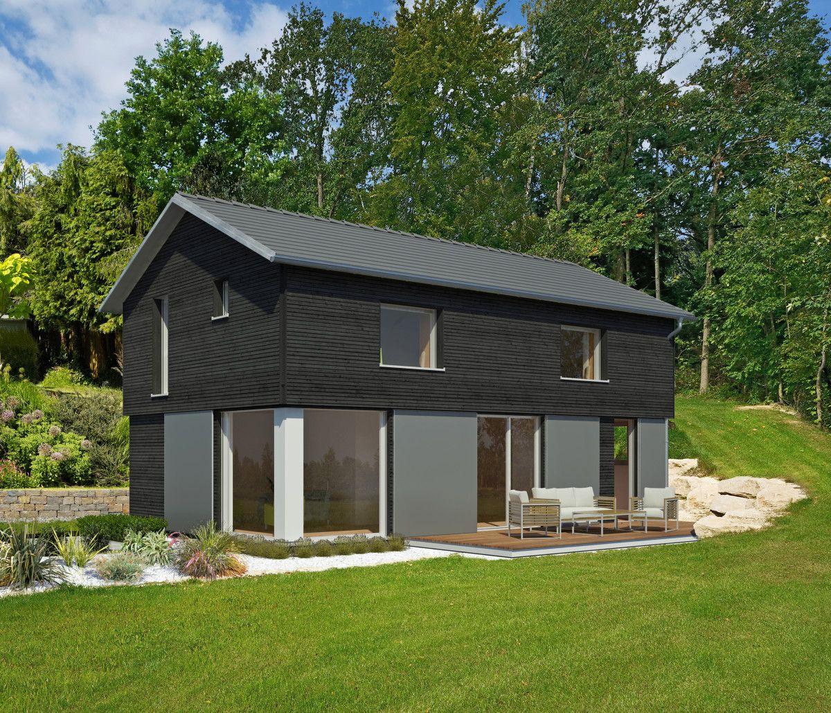 Moderne Holzhaus-Architektur \