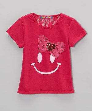 Who wouldn't be happy with sequins and a bow? A smiley face design and lace back boast extra sweetness, while a stretchy cotton blend means all-day happiness—and comfort.