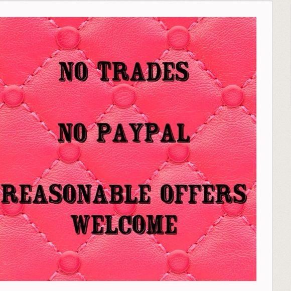 NO TRADES! NO PAYPAL! ALL SALES ARE FINAL No trades , no PayPal, all sales final Accessories