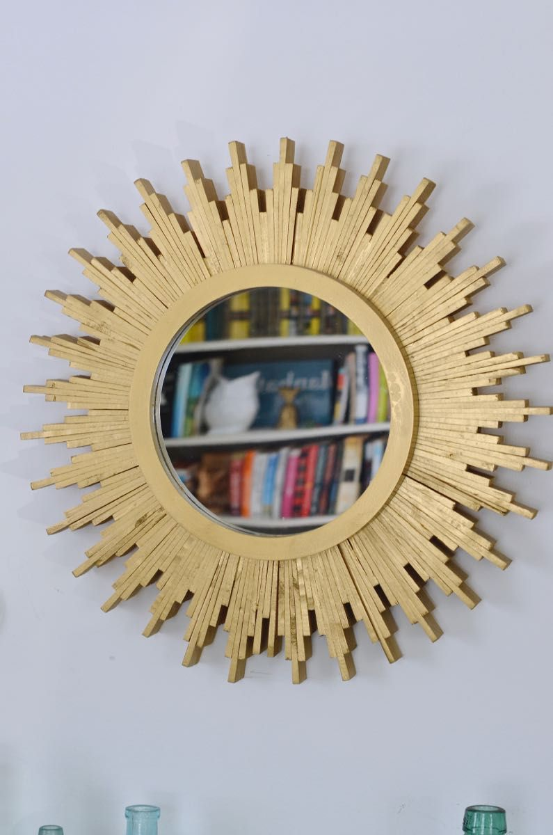 DIY Sunburst Mirror | Sunburst mirror, Woods and Diy wall art