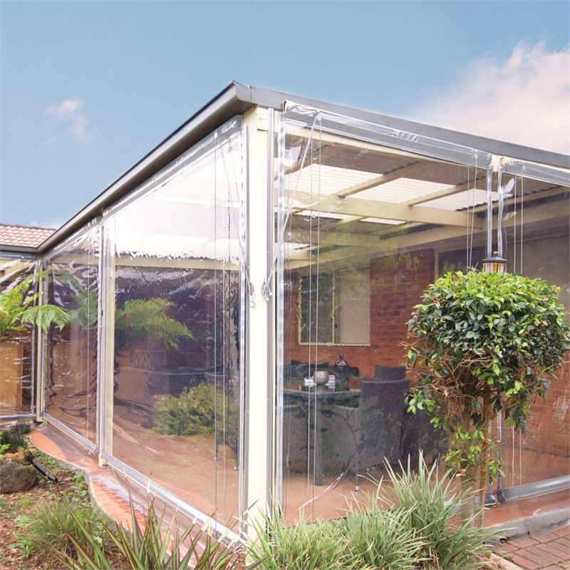 Bistro Blinds 0 75mm Pvc Outdoor Blind 900mm X 2400mm Charcoal