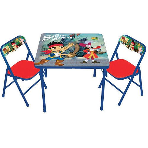Jake And The Never Land Pirates Activity Table And Chair Set Toys