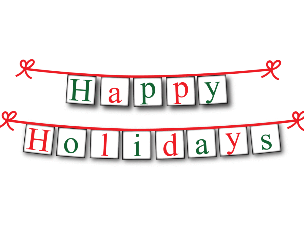 Printable Happy Holidays Banner Happy Holidays Sign Holiday Banner Holiday Signs