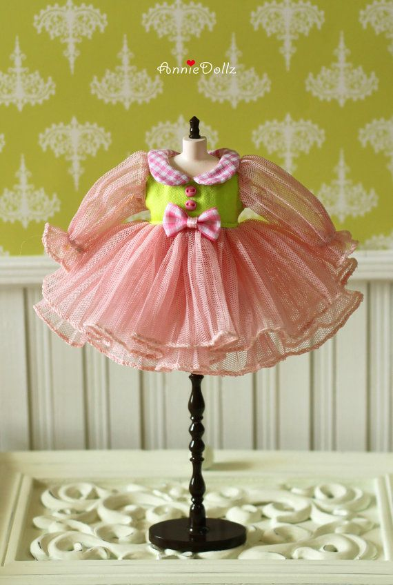 PO Anniedollz Blythe Outfits Tulle Pleats One Piece by anniedollz