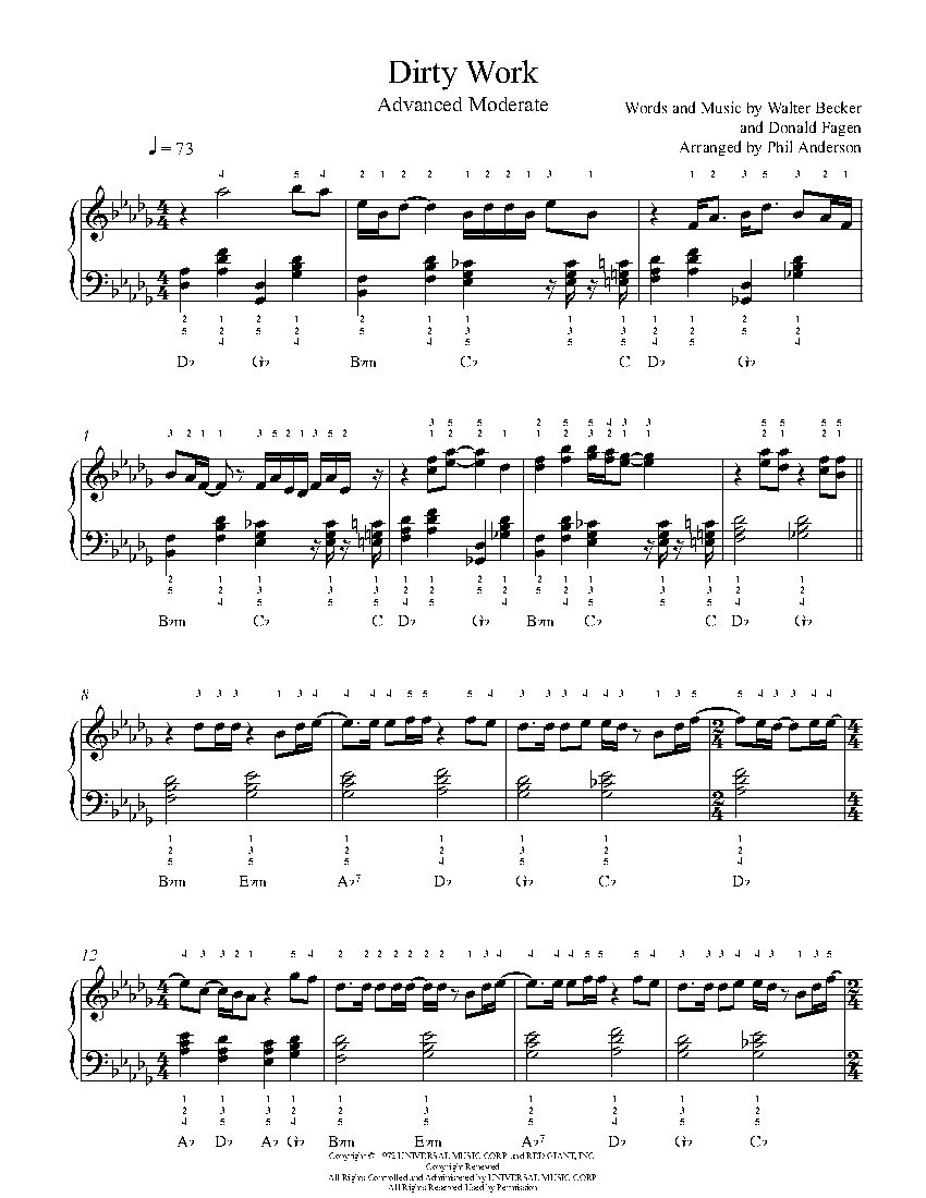 advanced jazz piano sheet music pdf