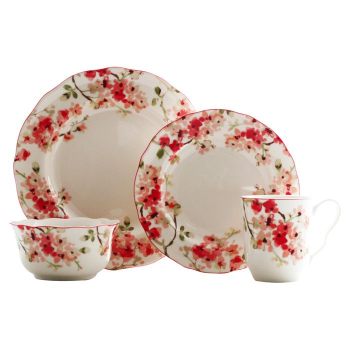 Budding Cherry Blossoms Dinnerware Set  sc 1 st  Pinterest & Budding Cherry Blossoms Dinnerware Set | For in the kitchen ...