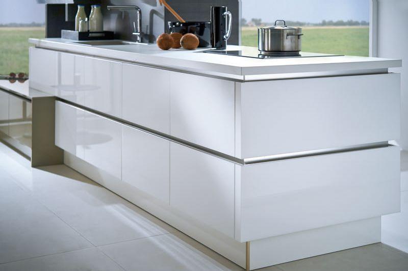 Saphir GL Stratos GL - Häcker Küchen Bianco vetro acrilico - laminat für küchen