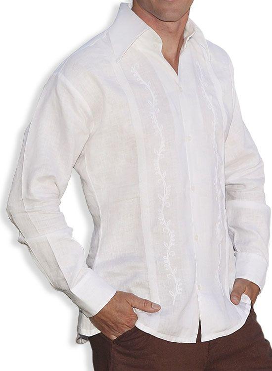 ac98b65b95 Check out the deal on Canali White Linen Tropical Guayabera Shirt at Shaka  Time Hawaii Clothing Store Free Shipping from Hawaii  hawaiianshirts ...