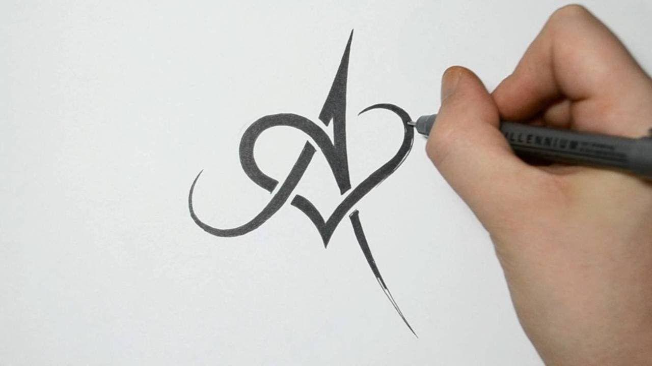 Maxresdefault Jpg 1280 720 Tattoo Lettering Fonts Tribal Tattoo Designs Alphabet Tattoo Designs