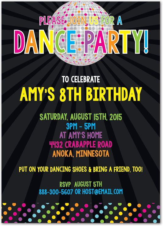 disco ball brightness party invitations 37899 kids birthday