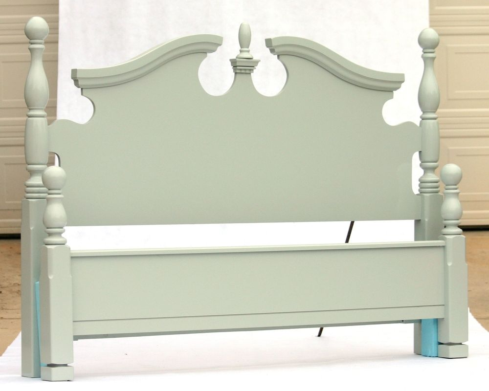 Light blue bed - full/queen laquer