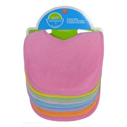 to decorate...  Neat Solutions® 8pk Solid Bib Set