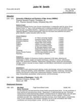 physician assistant new graduate resume and cv
