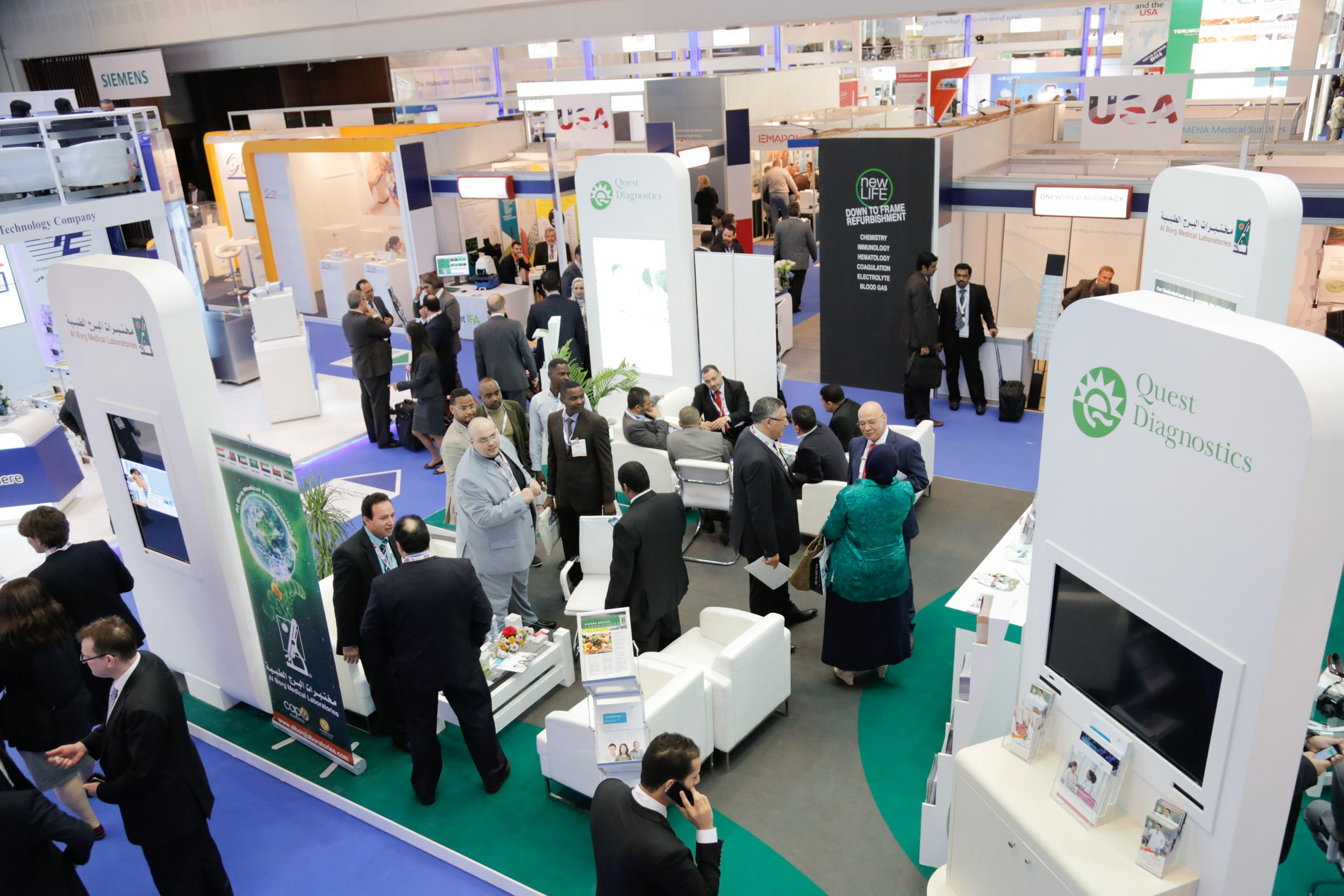 Arial view of the medlab exhibition during arab health