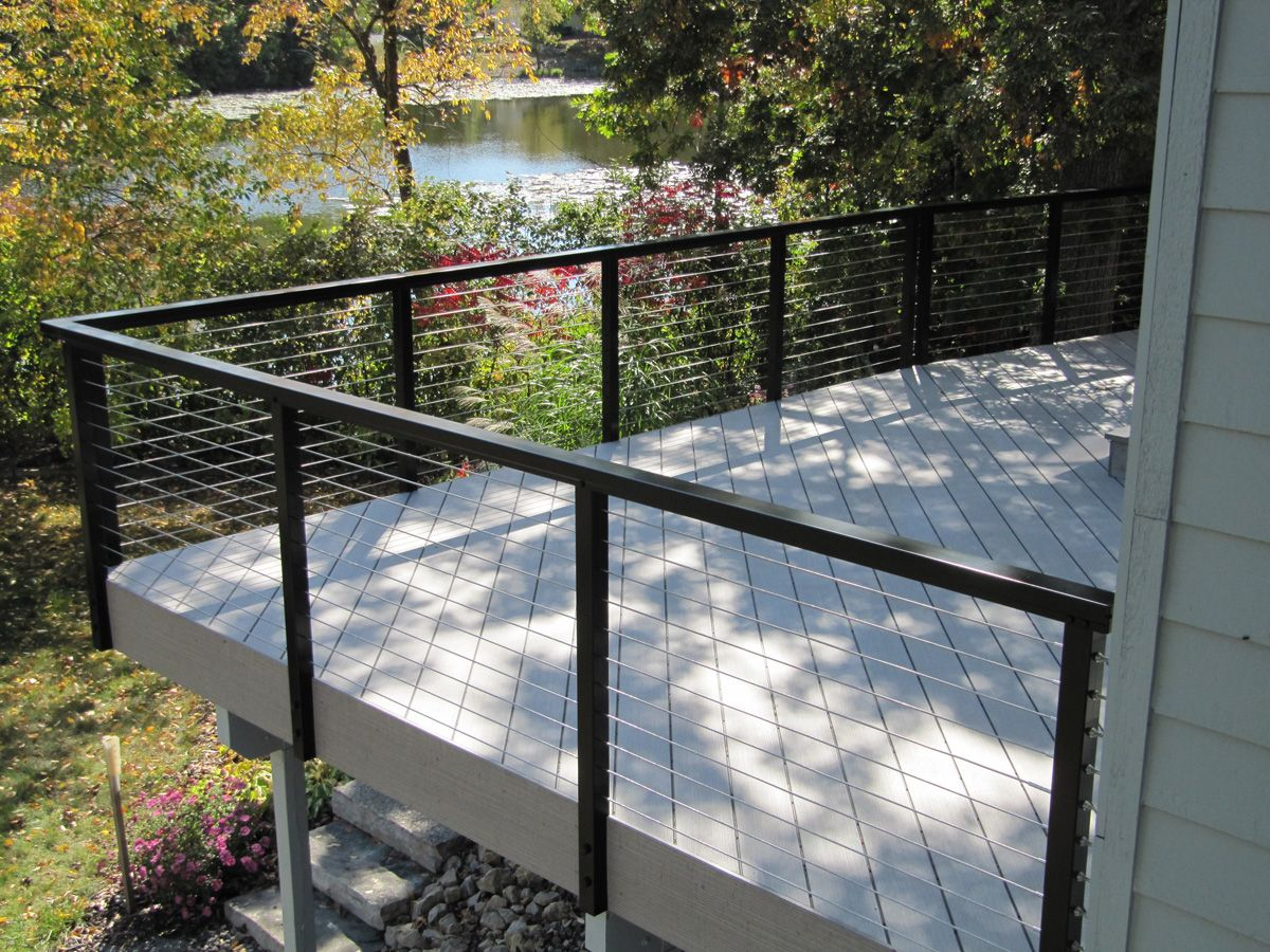 Cable Deck Railing Systems At Lowes | Deck Railing With Stainless ...