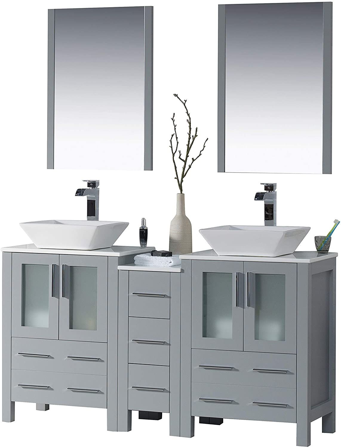 Bathroom Vanity With Two Side Cabinets 2021 Bathroom Vanity Vanity Modern Bathroom Vanity [ jpg ]