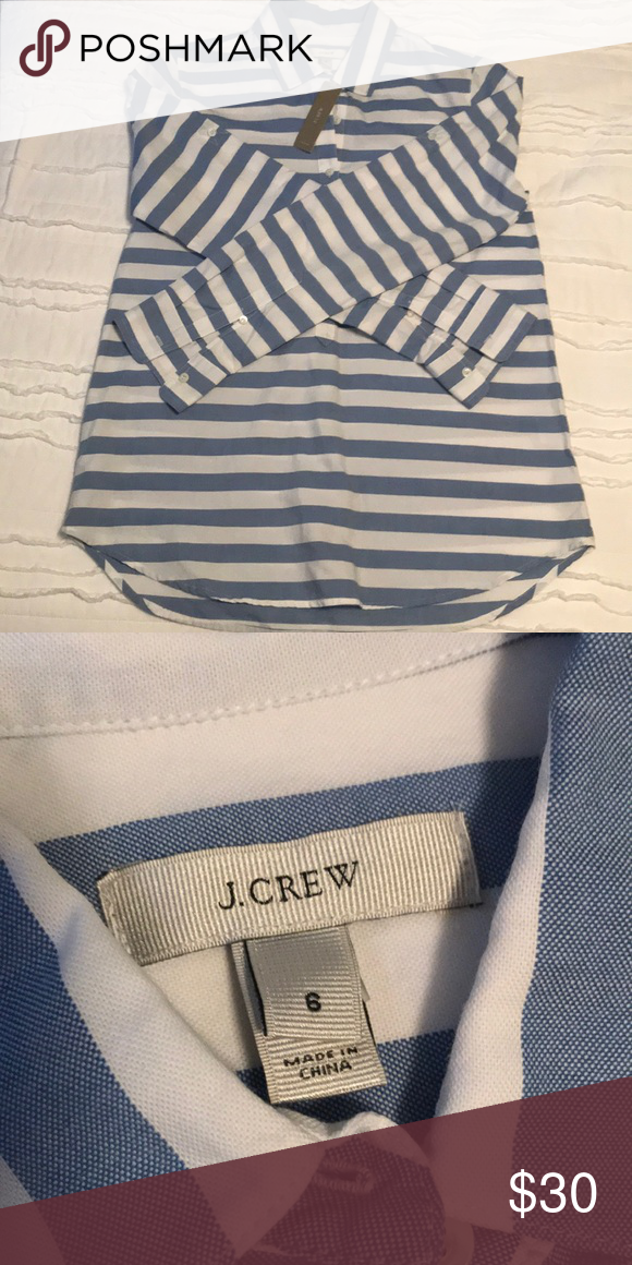 4e63cf4bf Jcrew popover NWT blue and white striped Jcrew popover J. Crew Tops Button  Down Shirts