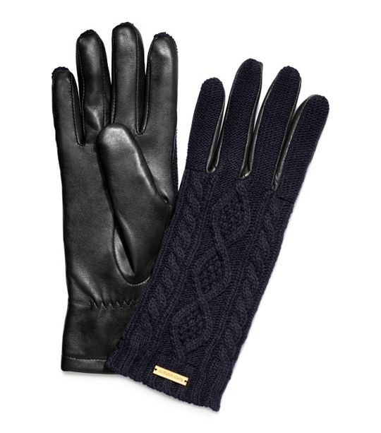 loving these cable knit and leather gloves for winter