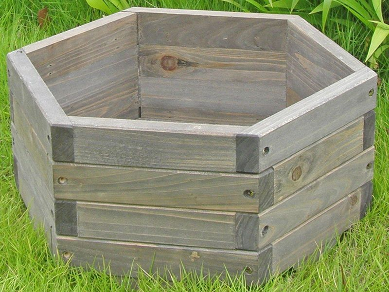 How To Make A Hexagonal Wooden Planter In 2019 Woodworking Diy