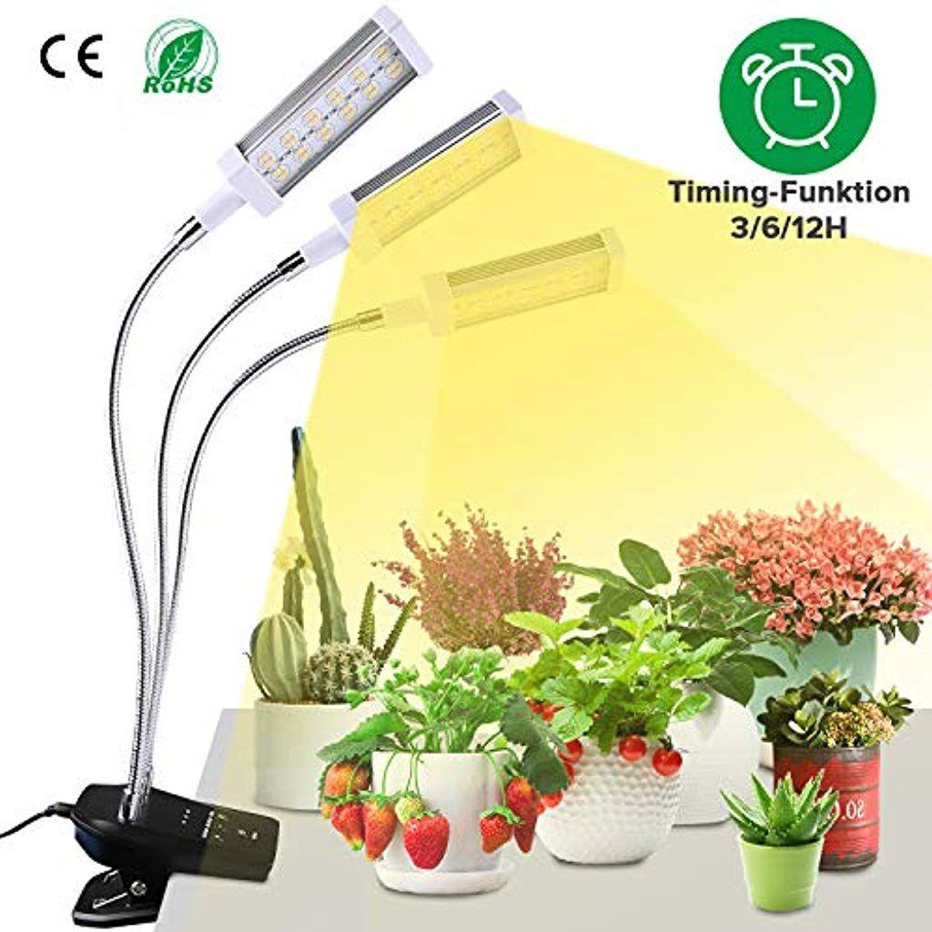 Dimmbar 30W LED Pflanzenlampe Pflanzenleuchte Grow Pflanzenlicht Vollspektrum