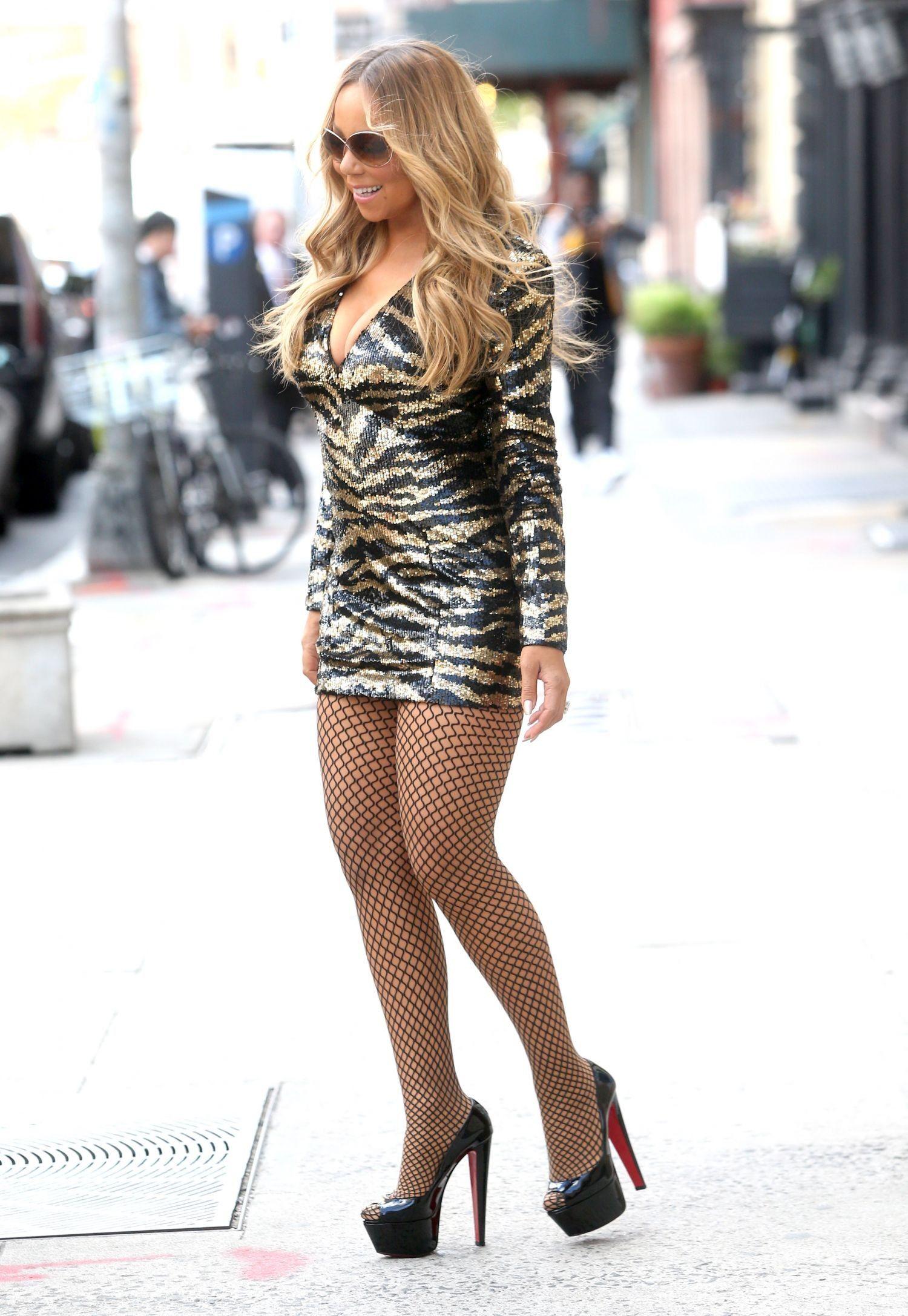 Photo  Mariah Carey In Short Dress Out In Nyc  Mariah -3324