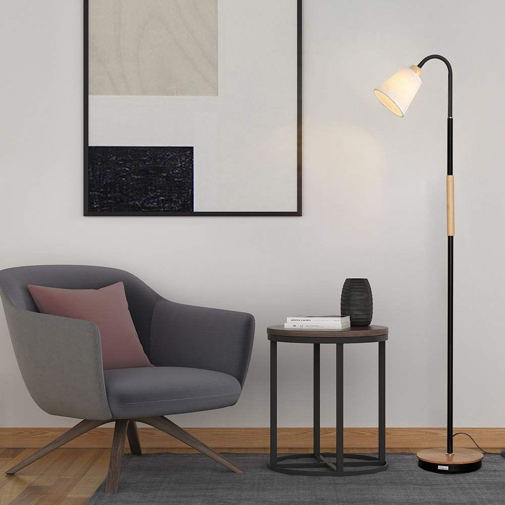 HAITRAL Modern Floor Lamp 360°Adjustable Standing Lamp