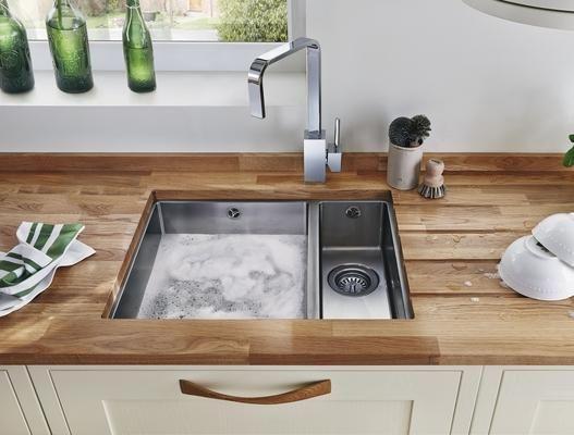 Lamona Easton Undermount 1.5 Bowl Sink with Lamona Chrome Cubic ...