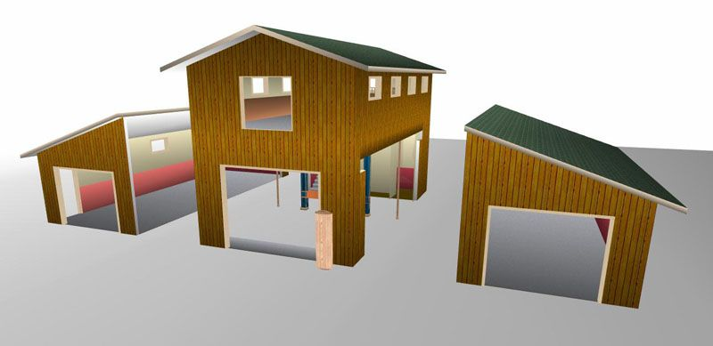 From the storage point of view sheds can be used for for Barn style garage plans for free