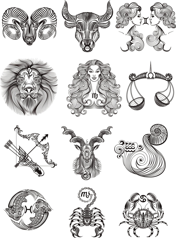 Наколки в картинках знаки зодиака