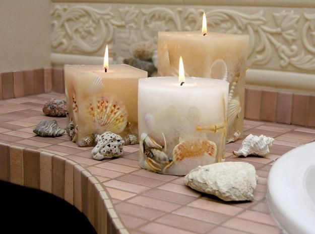Image Gallery For Website  Modern Bathroom Design and Decorating Ideas Incorporating Sea Shell Art and Crafts