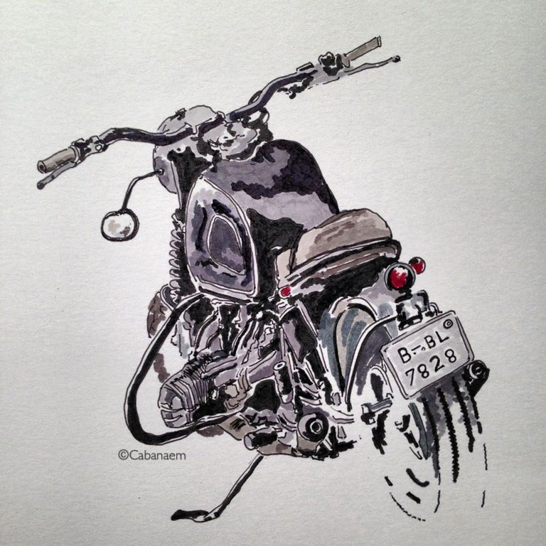 Cool New Work From Oil Amp Ink Motorbike Print Expo Artist