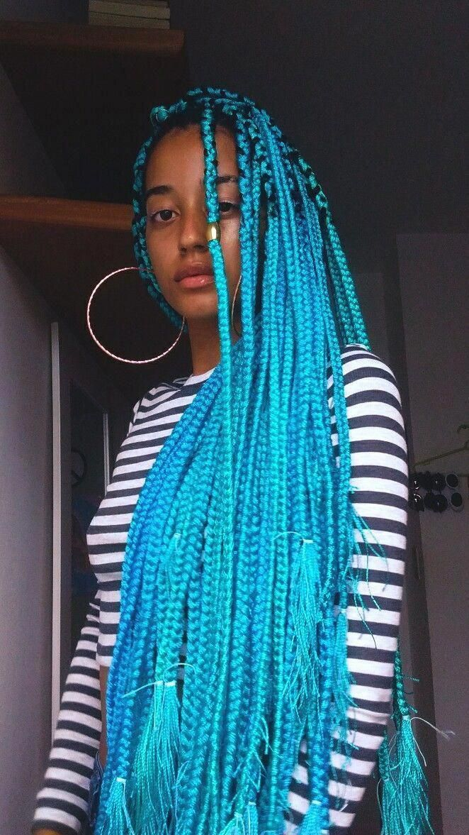 16 Colorful Box #braids to Inspire Your Next Protective Hairstyle # Braids africanas purple