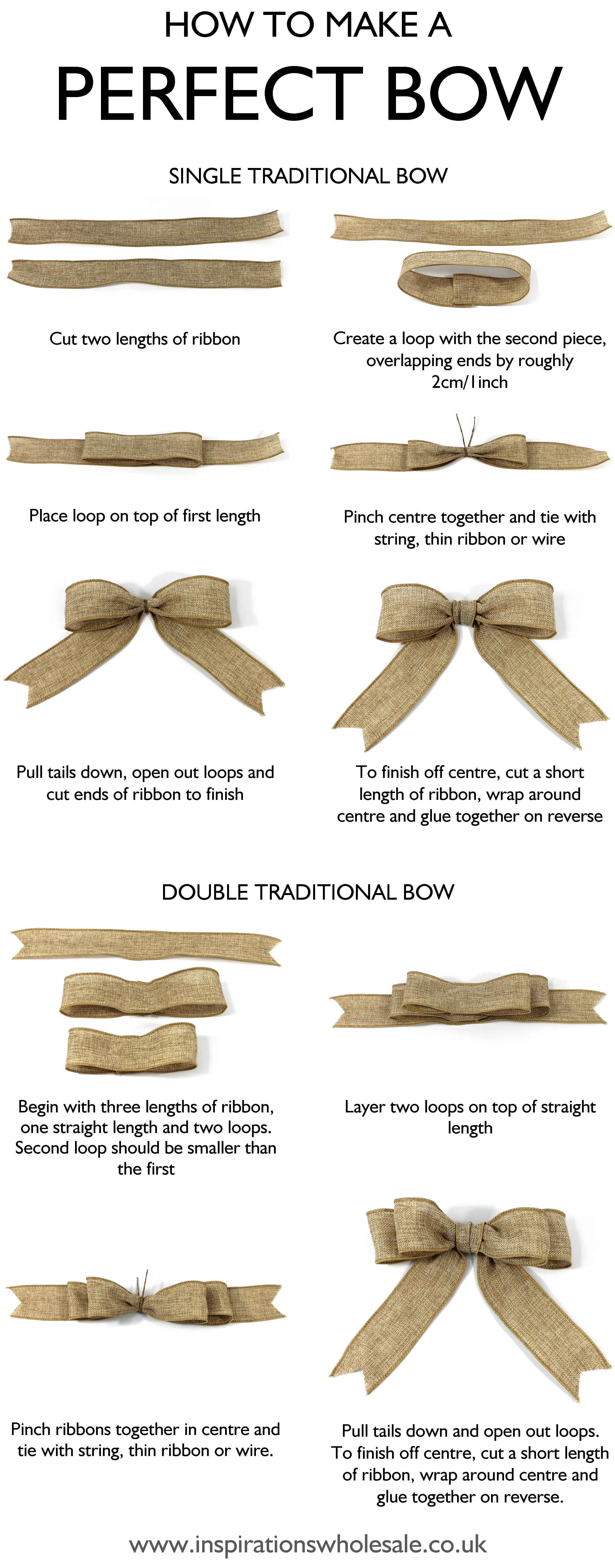 how to make the perfect bow diy tutorial christmas bricolage bricolage noel noel. Black Bedroom Furniture Sets. Home Design Ideas