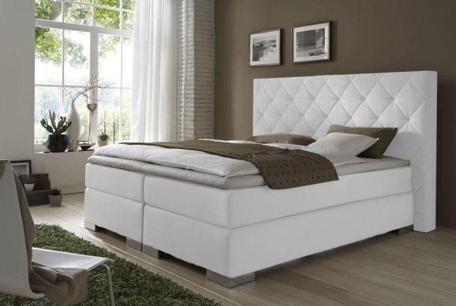 Doppelbett modern polster gepolstertes kopfteil boxspring