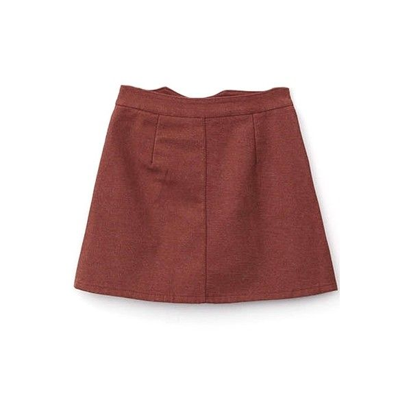 Zipper Fly A-Line Plain Mini High Waist Pockets Skirt (325 MXN) ❤ liked on Polyvore featuring skirts, mini skirts, a-line skirt, zipper mini skirt, red skirt, red a line skirt and mini skirt
