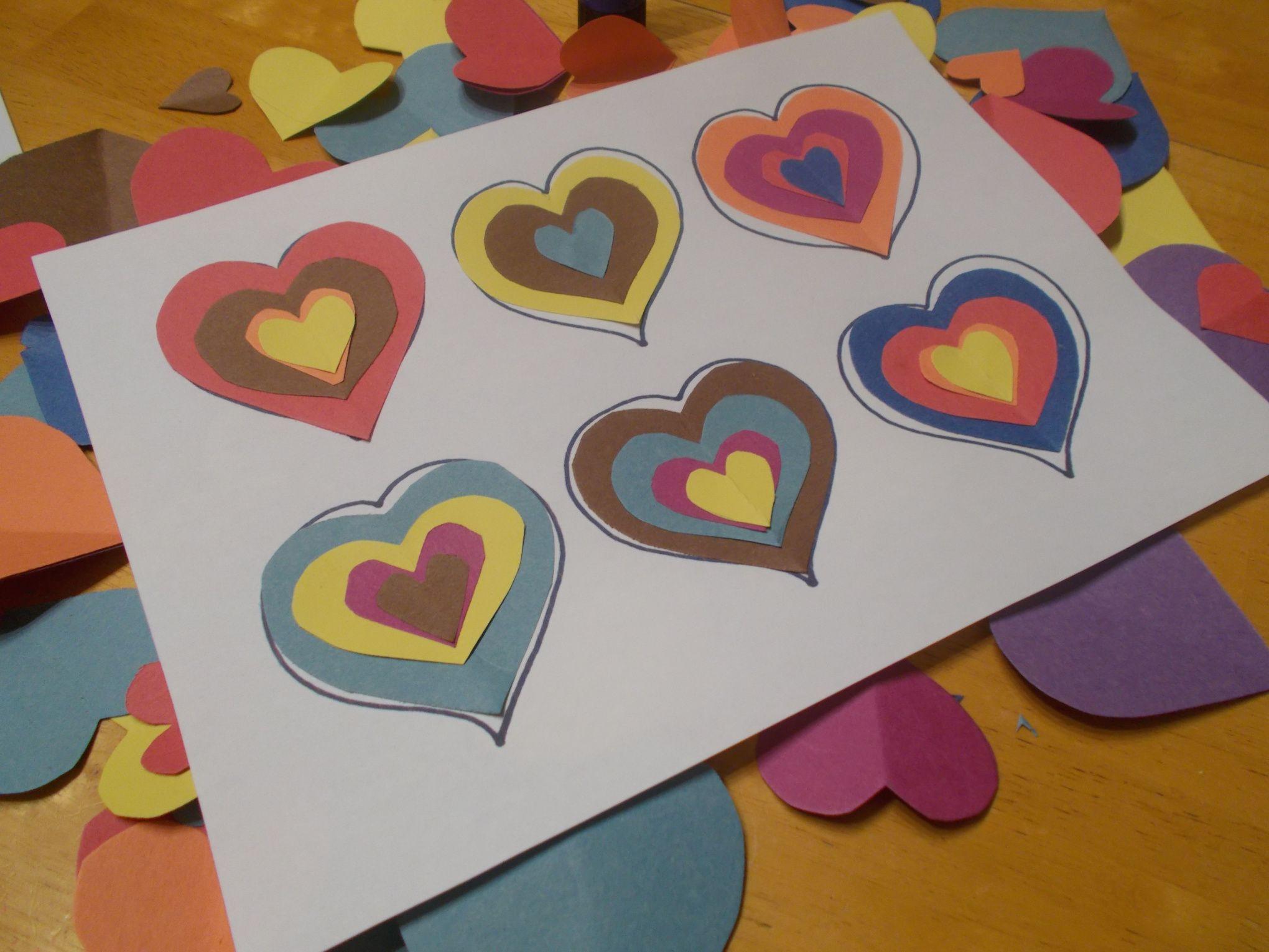 Kandinsky Inspired Love Hearts Muttertag Mutter