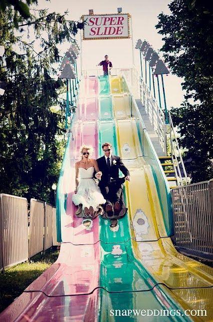 Slides! Great for wedding photos and entertaining the guests! - Jill is it too late to add this? ;-)