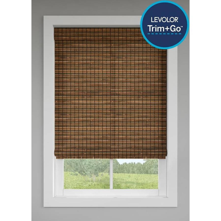Levolor Trim Go Cinnamon Light Filtering Cordless Roman Shade Actual 47 5 In X 64 In Lowes Com In 2020 Cordless Roman Shades Blinds For Windows Blinds
