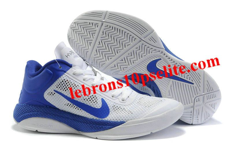 New nike zoom hyperfuse xdr mens white/blue low shoes