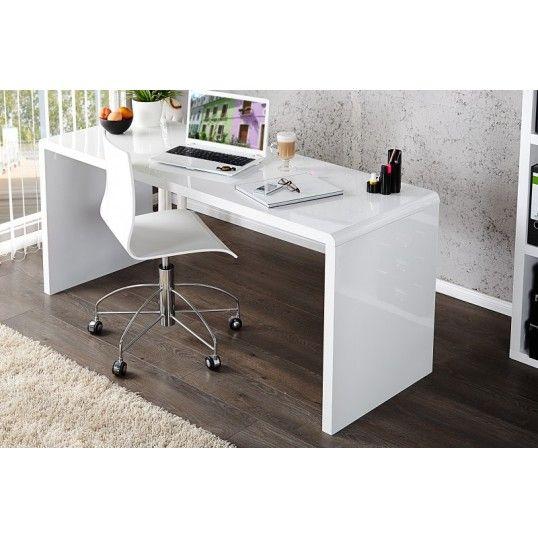 160 X 75 X 60 £194 SALVADOR   Design Office Desk White 160 Cm High