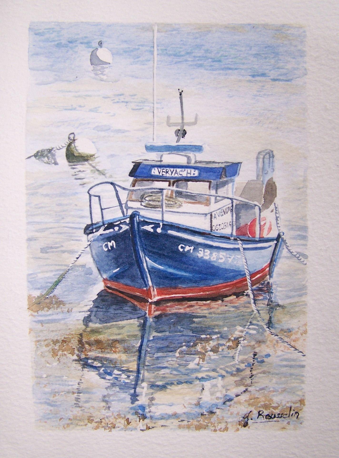 Aquarelle Bateaux Aquarelle Le Bateau A Vendre Port De Camaret