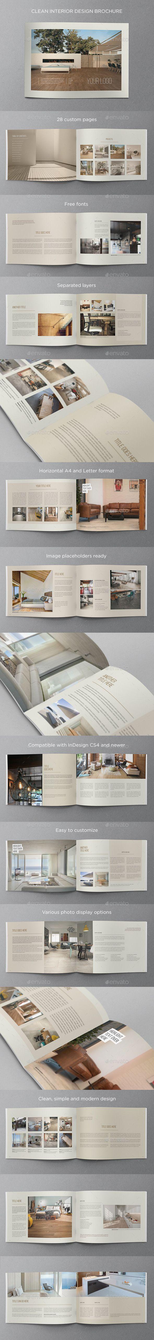 Clean Interior Design Brochure   Katalog, Immobilien und Grafikdesign