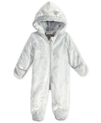 5f89862b4 First Impressions Faux-Fur Bear Footed Snowsuit