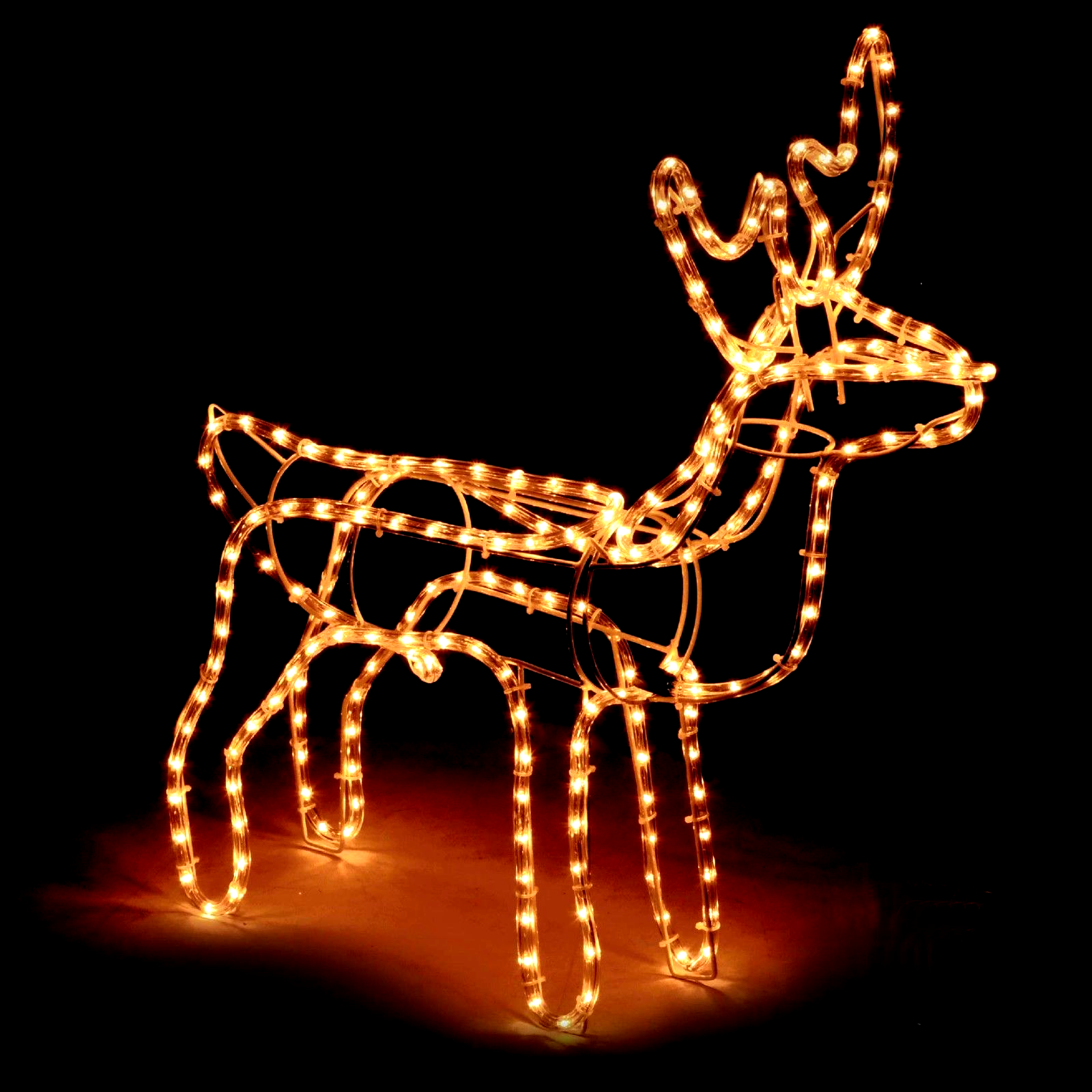 Large Christmas Reindeer Light Up Outdoor Garden Rope Decoration Silhouette Wed Christmas Decoration In 2020 Rope Decor Reindeer Lights Christmas Reindeer Lights