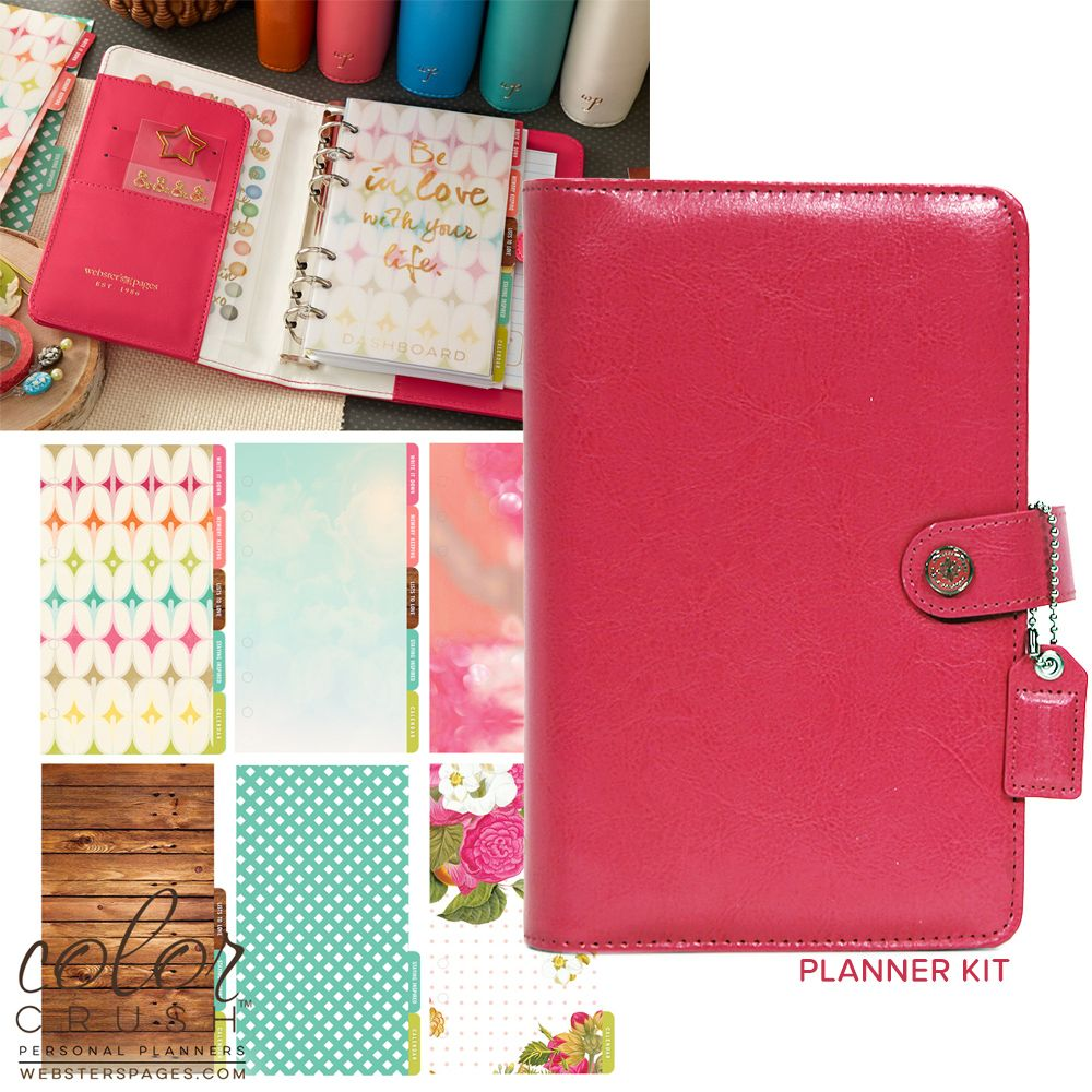 Websters Pages Color Crush Collection Personal Planner Kit