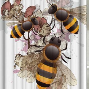 Bumble Bee Shower Curtain Hooks Bee Shower Fabric Shower